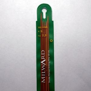 Agulhas ponta dupla Bambu 15cm