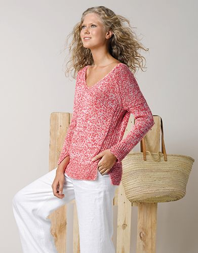 Book Woman Sport 87 Spring _ Summer _ 9_ Woman Sweater _ Coral